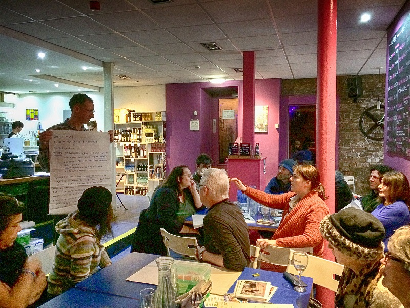 workshop in a glasgow cafe