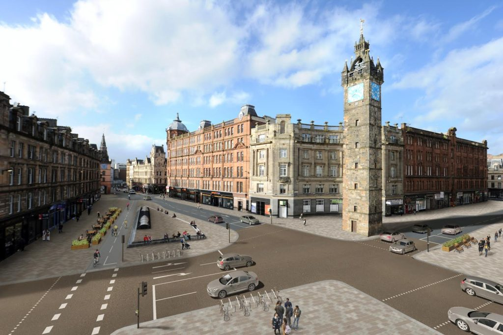 Glasgow Cross view as proposed