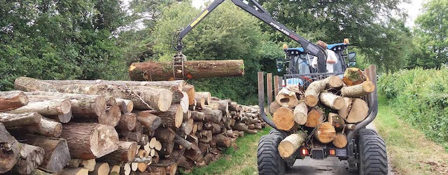tractor and timber