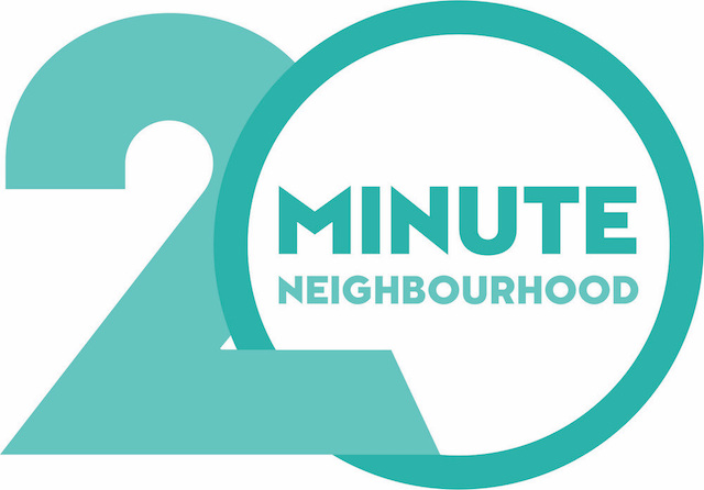graphic logo for 20 minute neighbourhood courtesy of Planning Institute Australia